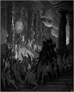 Gustave Dore Paradise Lost Satan takes his throne in Hell[1]